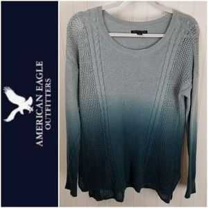 American Eagle Outfitters Blue Ombre Sweater Sz Sm